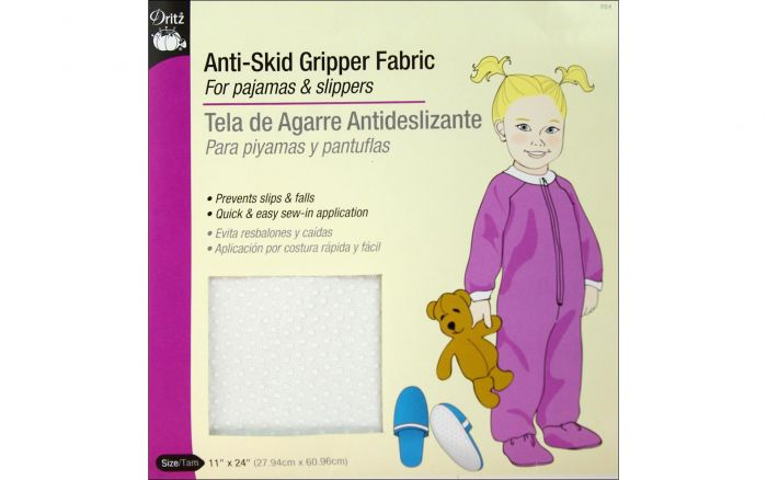 Anti-Skid Gripper Fabric for Pajamas and Slippers, Dritz 564 - Fabrics N Quilts