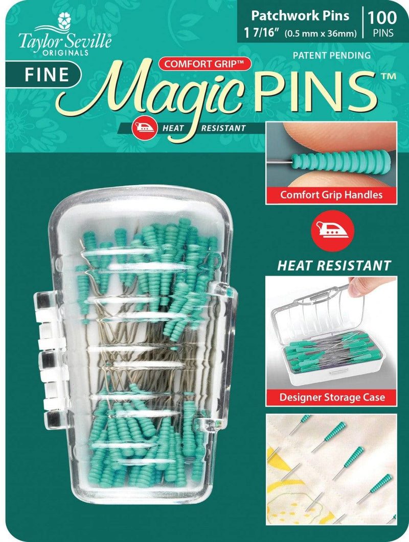 Magic Pins 100ct Patchwork Fine 1.44in - Fabrics N Quilts
