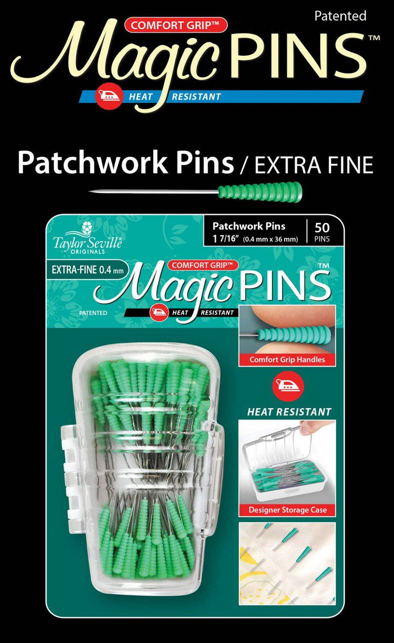 Magic Pins 50ct Patchwork Extra Fine 1.44 in - Fabrics N Quilts