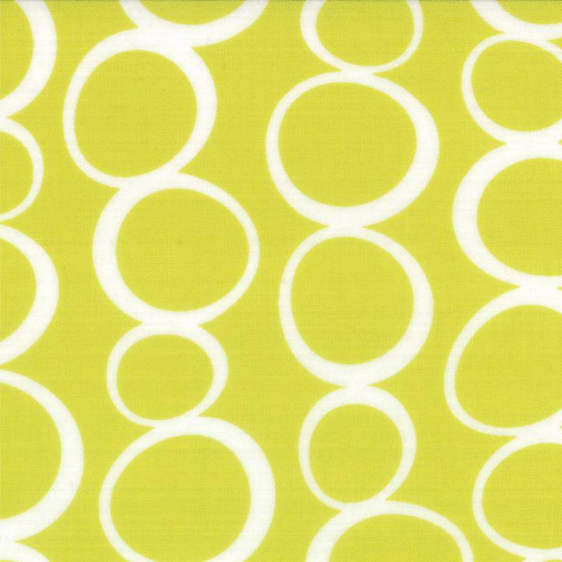 Mixed Bag, Brushed Cotton Circles Chartreuse 32866-21 - Fabrics N Quilts