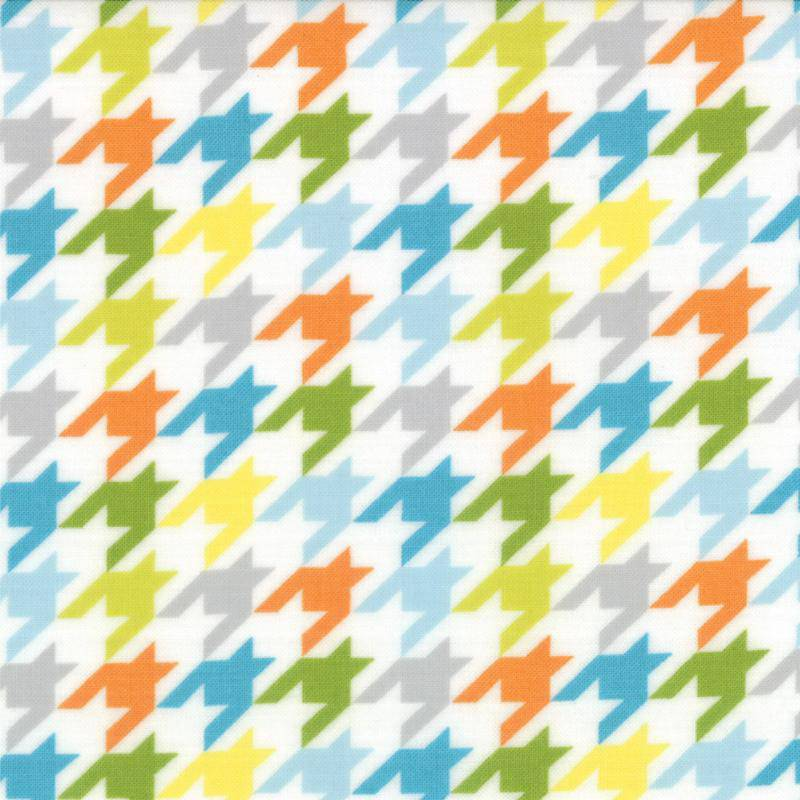 Mixed Bag, Brushed Cotton Houndstooth Multi 32867-14 - Fabrics N Quilts