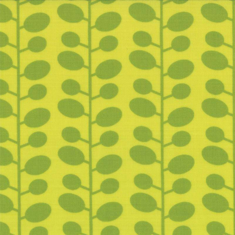 Mixed Bag, Brushed Cotton Leaf, Lime 32868-17 - Fabrics N Quilts