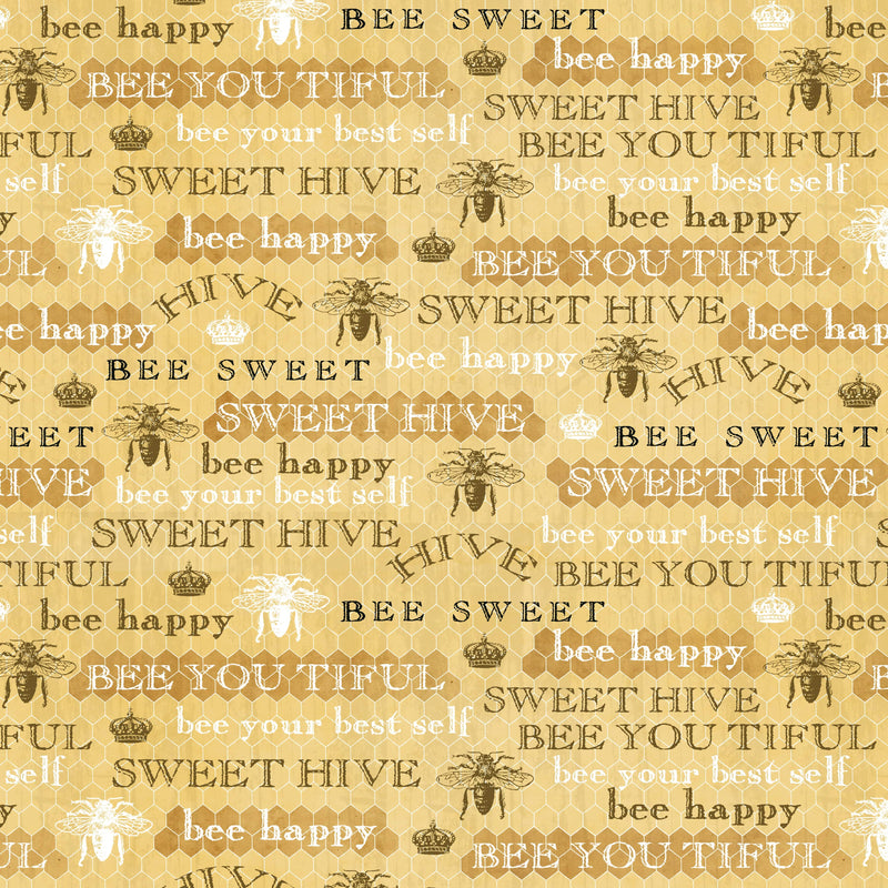 Bee Sweet, Text Honeycomb 5125-44 - Fabrics N Quilts