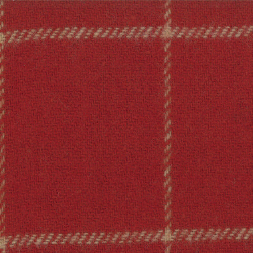 Wool Chubby 9x10 Independence Trail Red Tan Plaid Moda 58411-12
