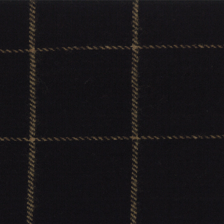 Wool Chubby 9x10 Independence Trail Black Plaid Moda 58411-30