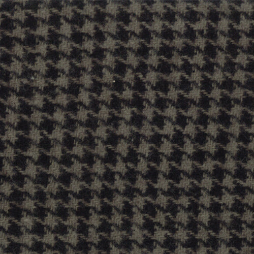Wool Chubby 9x10 Independence Trail Houndstooth Black Grey Moda 58411-33 - Fabrics N Quilts