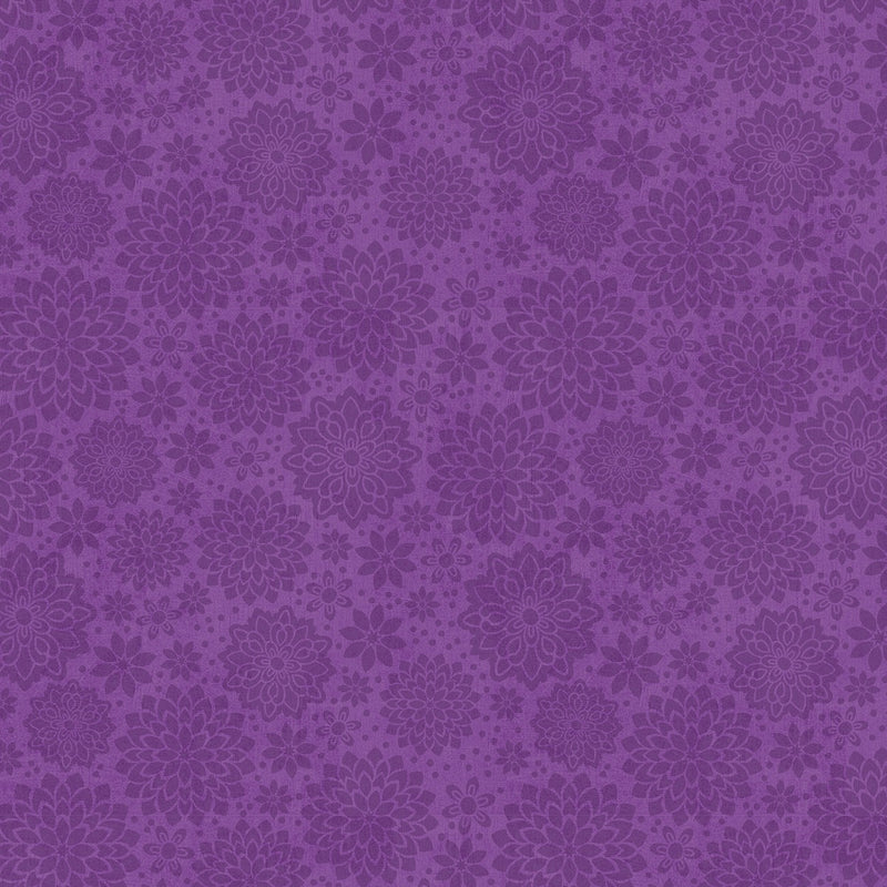 Floral Serenade Purple Shadow Dahlia 68498-660 - Fabrics N Quilts