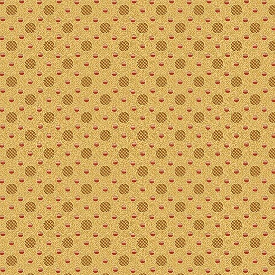 Yarra Valley Caramel Dots A-9030-O - Fabrics N Quilts