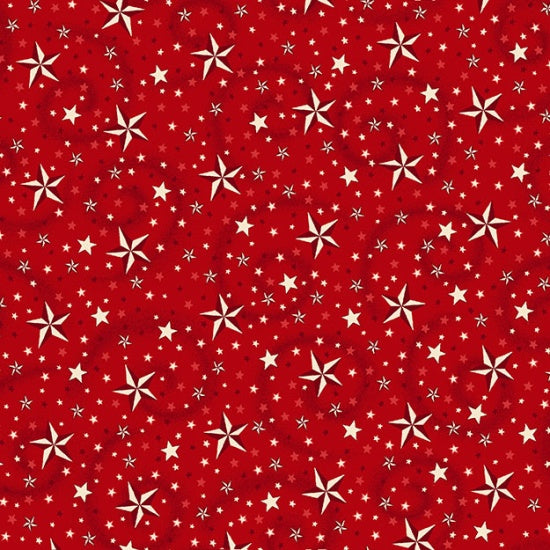"American Dreams 108"" Swirl, Star Red 9813XW-88 - Fabrics N Quilts"