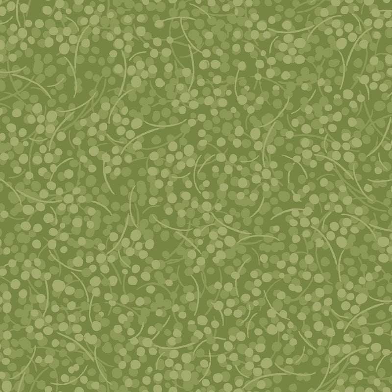 Berry Nice Olive Berries Vine BERR-238-A - Fabrics N Quilts