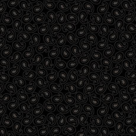 Quilting Illusions Paisley Black 21519-J - Fabrics N Quilts