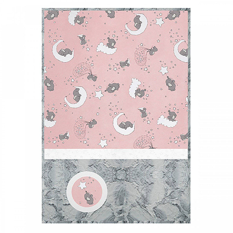 Luxe Cuddle Quilt Kit, Lucky Stars Blush Pink - Fabrics N Quilts