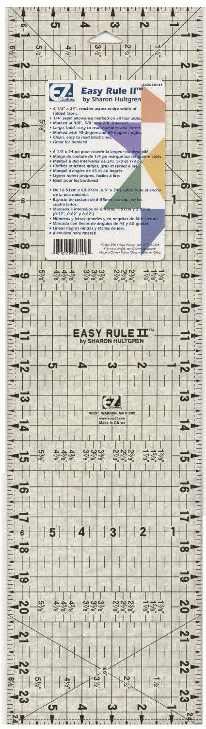 "EZ Rule 6.5"" x 24"" Ruler - Fabrics N Quilts"