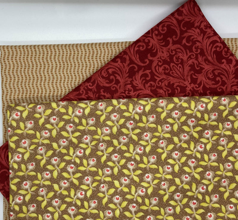 3 Yard Quilt Kit - Hazel and Plum Fall Buds - Fabrics N Quilts
