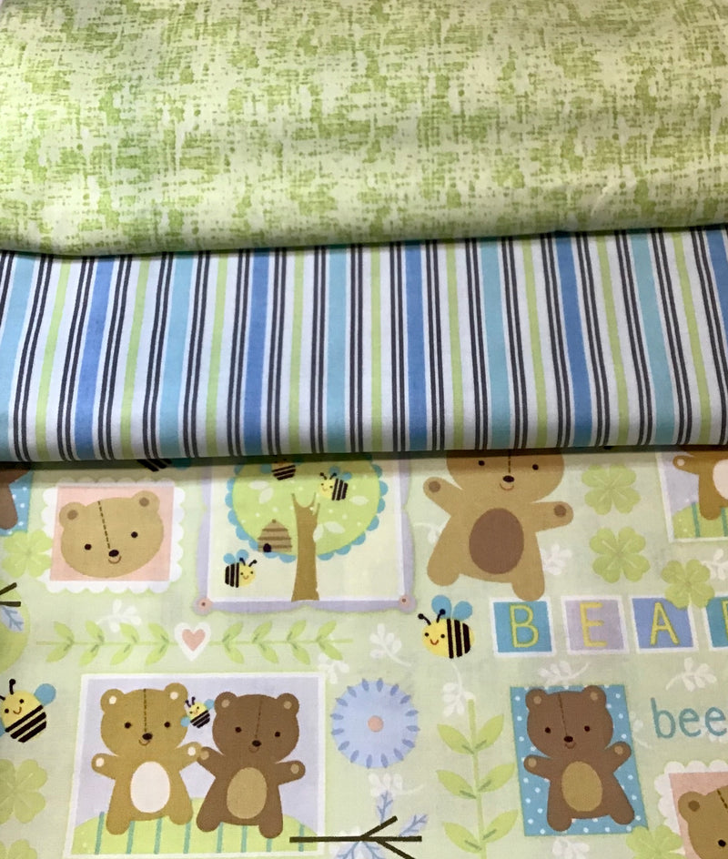 3 Yard Quilt Kit - Baby Bear - Fabrics N Quilts