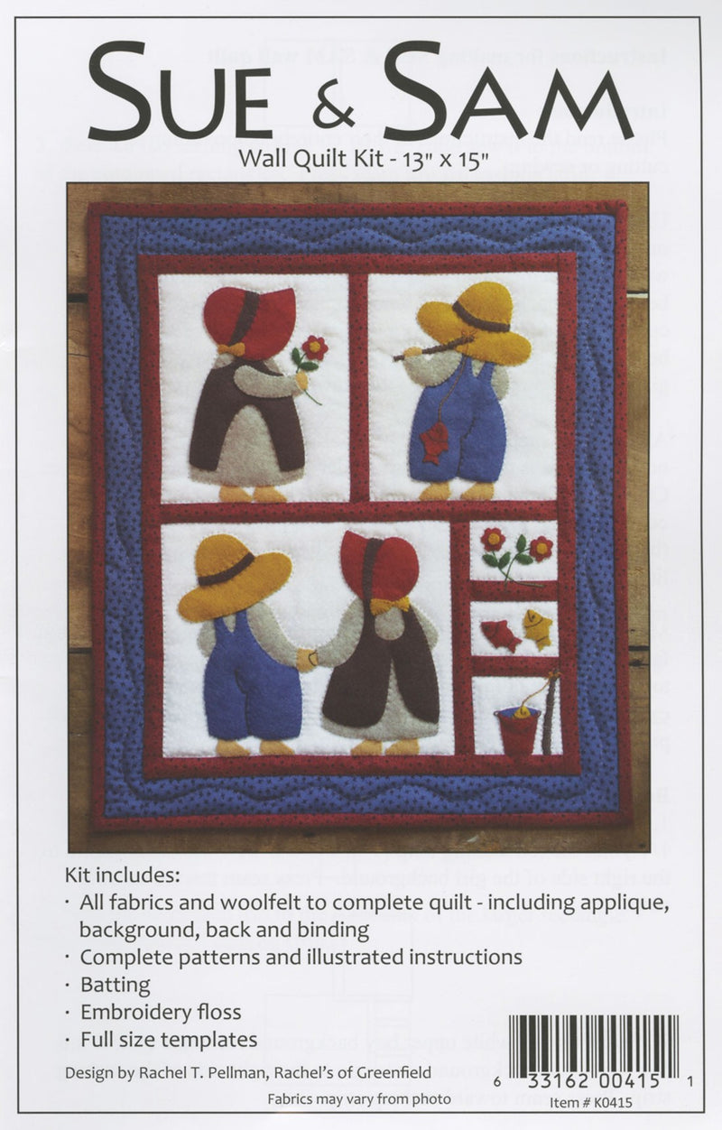 Woolfelt Sue and Sam Wall Hanging Quilt Kit - Fabrics N Quilts