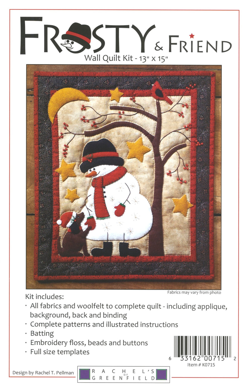 Woolfelt Frosty and Friend Wall Hanging Kit - Fabrics N Quilts