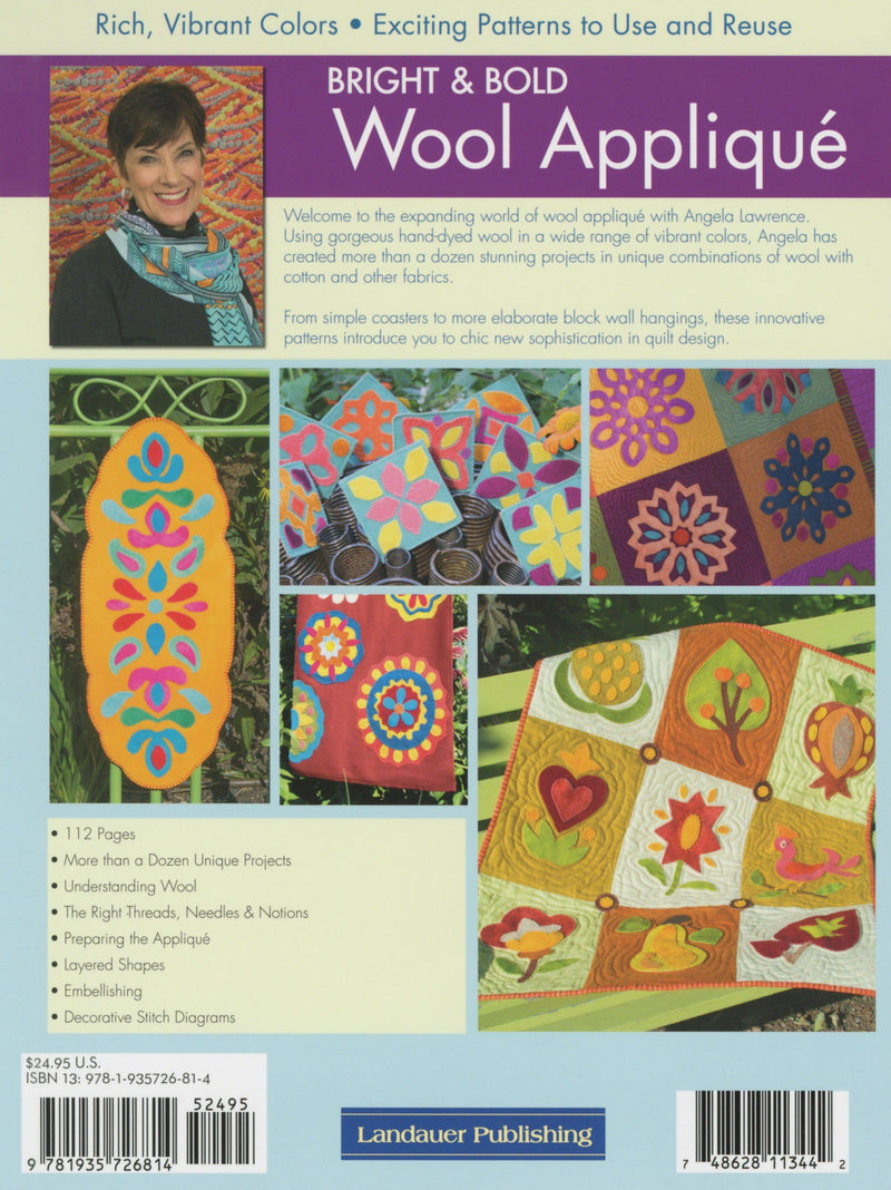 Bright & Bold Wool Applique, Angela Lawrence - Fabrics N Quilts