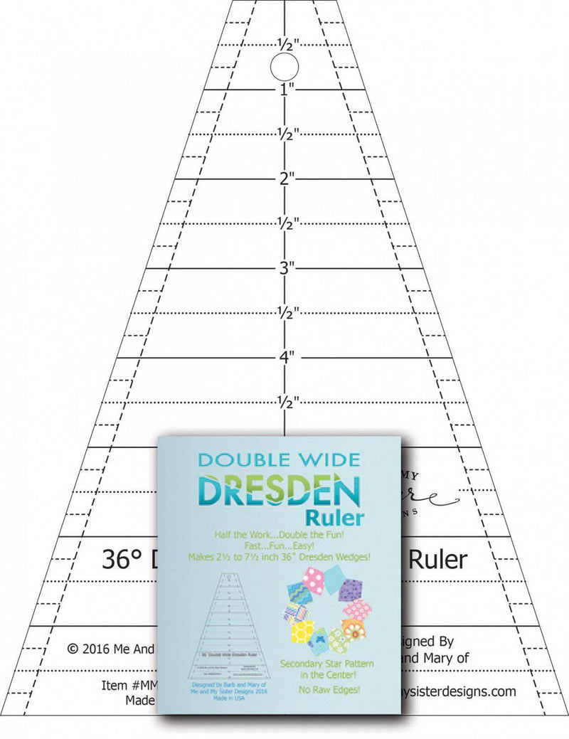 Double Wide Dresden Ruler - Fabrics N Quilts