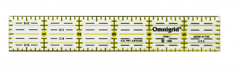"Omnigrid Seam Guide 1"" x 6"" Ruler - Fabrics N Quilts"