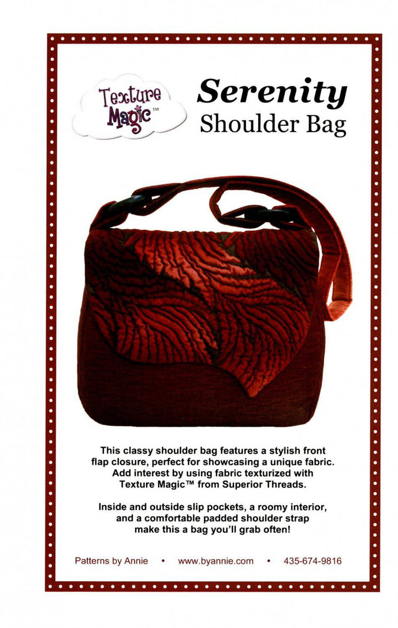 Serenity Shoulder Bag Purse Pattern, by Annie - Fabrics N Quilts