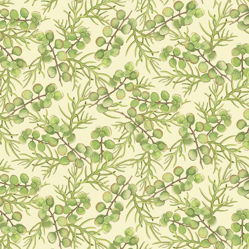 Rustic Rosettes Green Cactus Leaves RUST-4011-G - Fabrics N Quilts