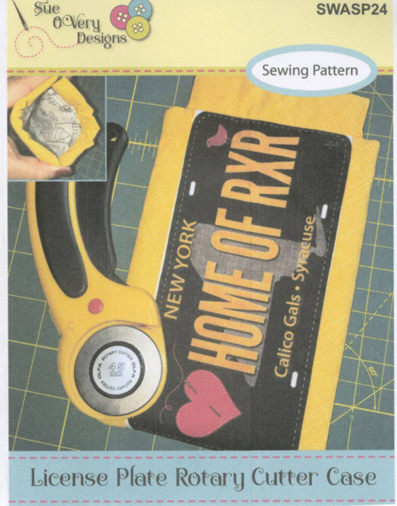 License Plate Rotary Cutter Case, Sue O'Very - Fabrics N Quilts