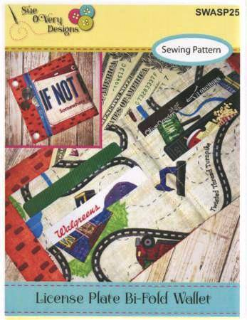 License Plate Bi-Fold Wallet, Sue O'Very - Fabrics N Quilts