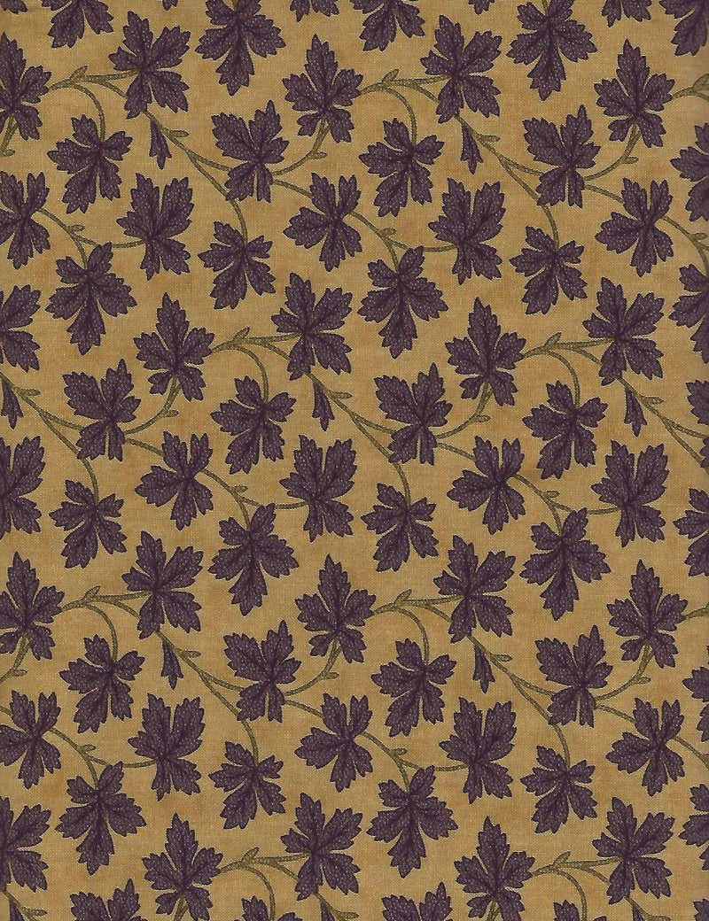 Hawthorne Ridge, Tan Purple Vine Leaf 2163-11 - Fabrics N Quilts