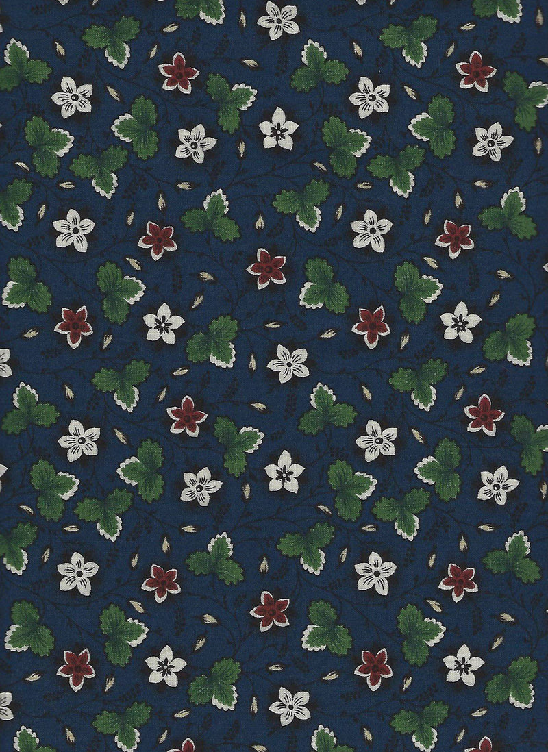 Collections for a Cause-Warmth Blue Floral Leaf 46146-15 - Fabrics N Quilts