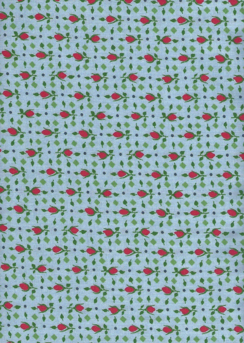 Lazy Days, 30's Tulips Blue 98572-437 - Fabrics N Quilts