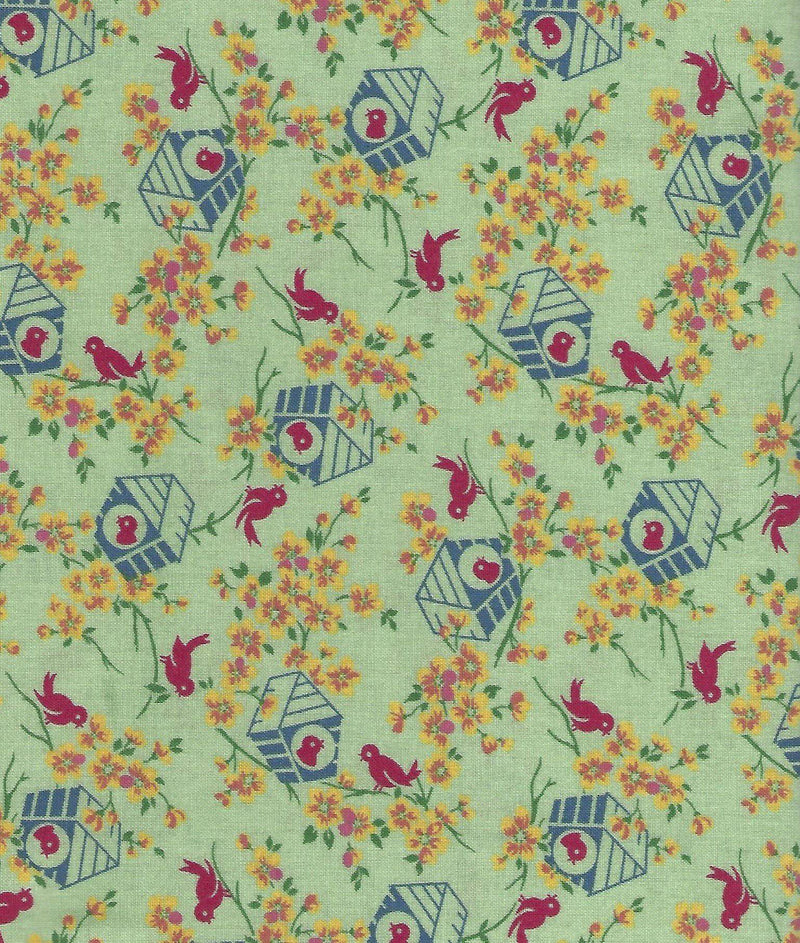Lazy Days, 30's Red Bird Houses 98601-473 - Fabrics N Quilts