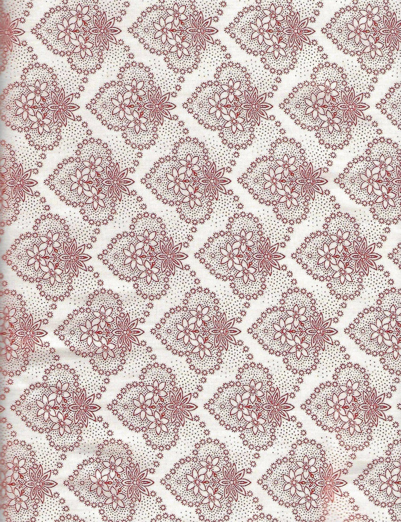 Colebrook Red Toile Leaf Medallion 26013-ER - Fabrics N Quilts