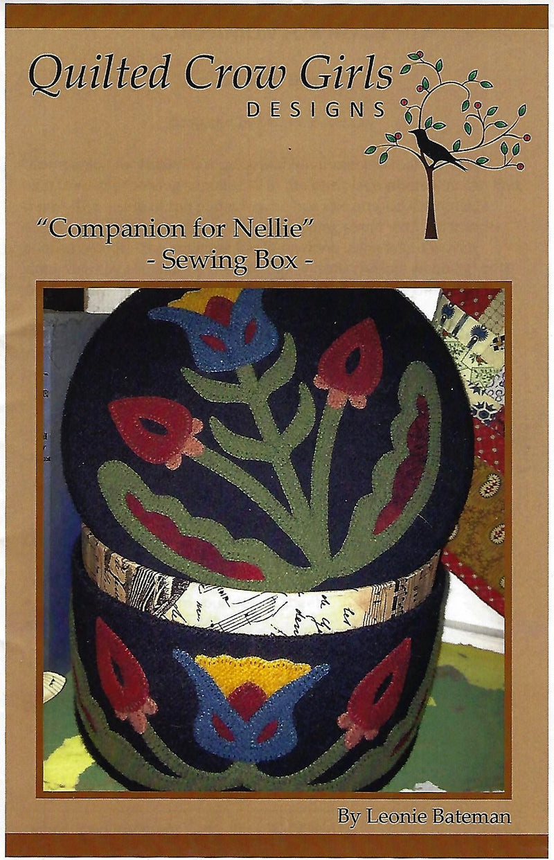 Companion for Nellie Sewing Box Wool Applique Pattern - Fabrics N Quilts