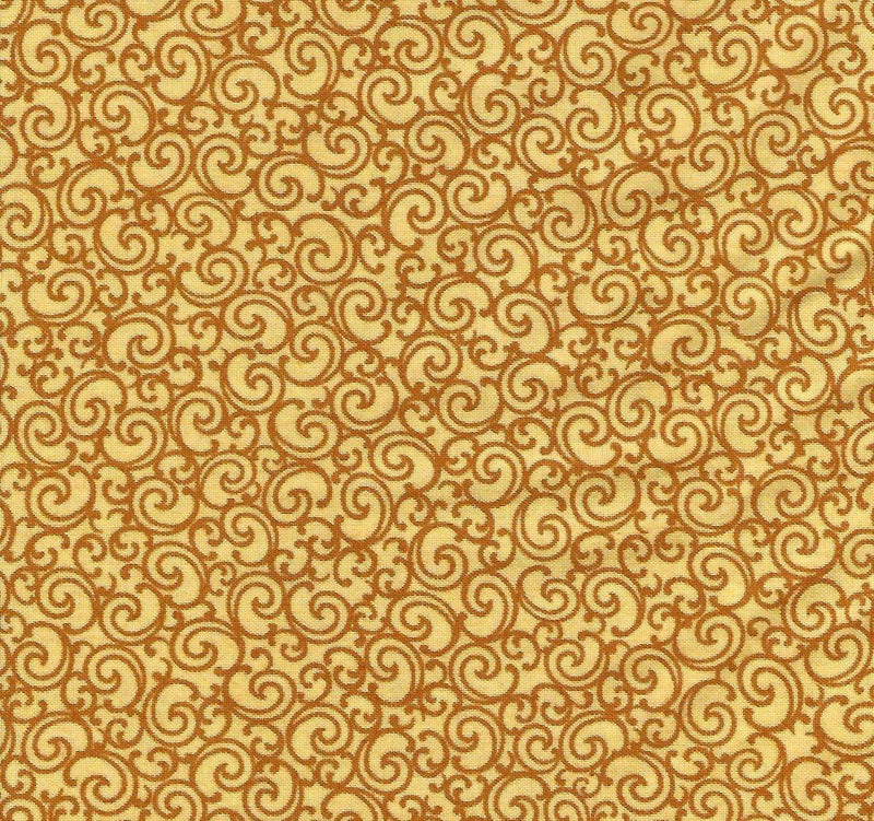 Biker For Life 26020-S Yellow Orange Scroll - Fabrics N Quilts