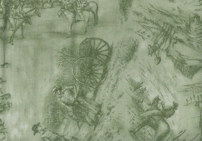 Red River II Sage Toile Cowboys, Range 9323-3 - Fabrics N Quilts