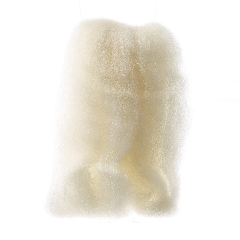 Wistyria Editions Wool Roving 12in Natural/White - Fabrics N Quilts
