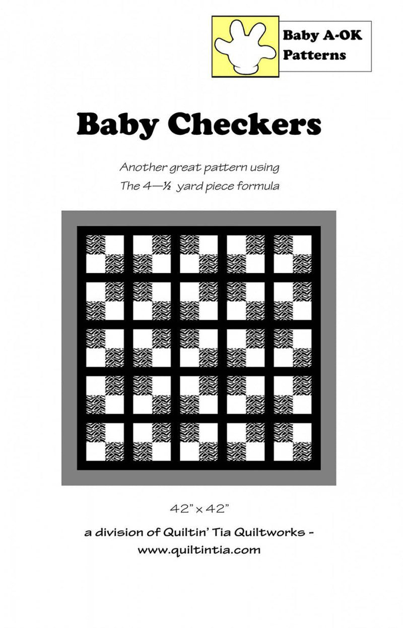 Baby Checkers, A-OK Quilt Patterns - Fabrics N Quilts