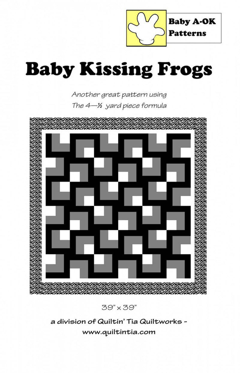 Baby Kissing Frogs, A-OK Quilt Patterns - Fabrics N Quilts