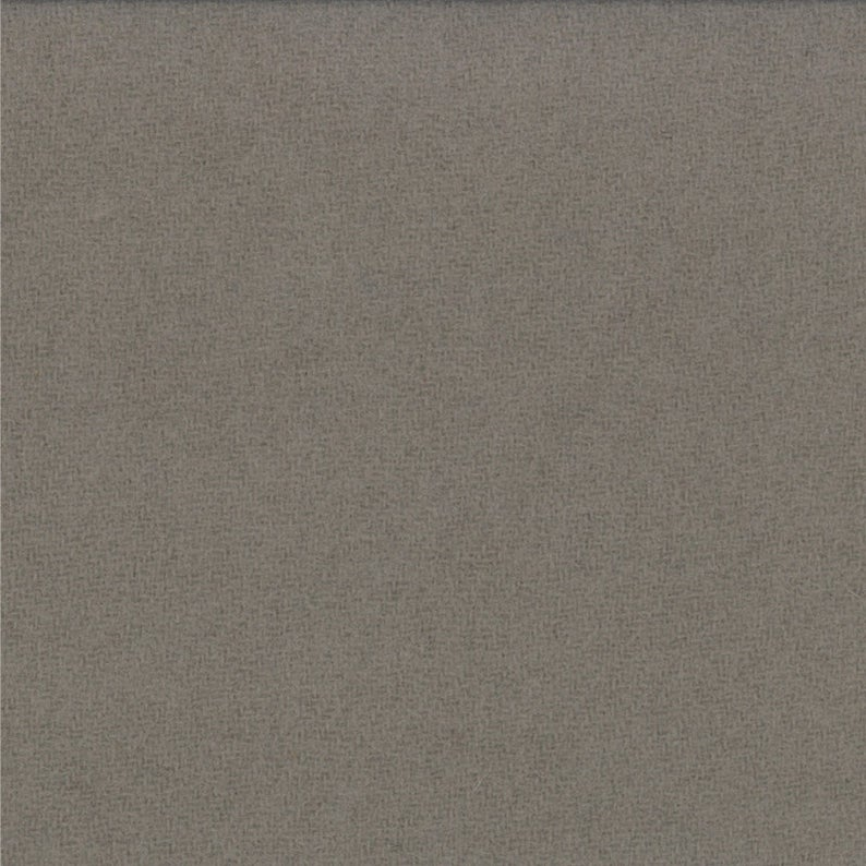 Wool Charm 5 x 5 Bunny Hill Grey Solid - Fabrics N Quilts