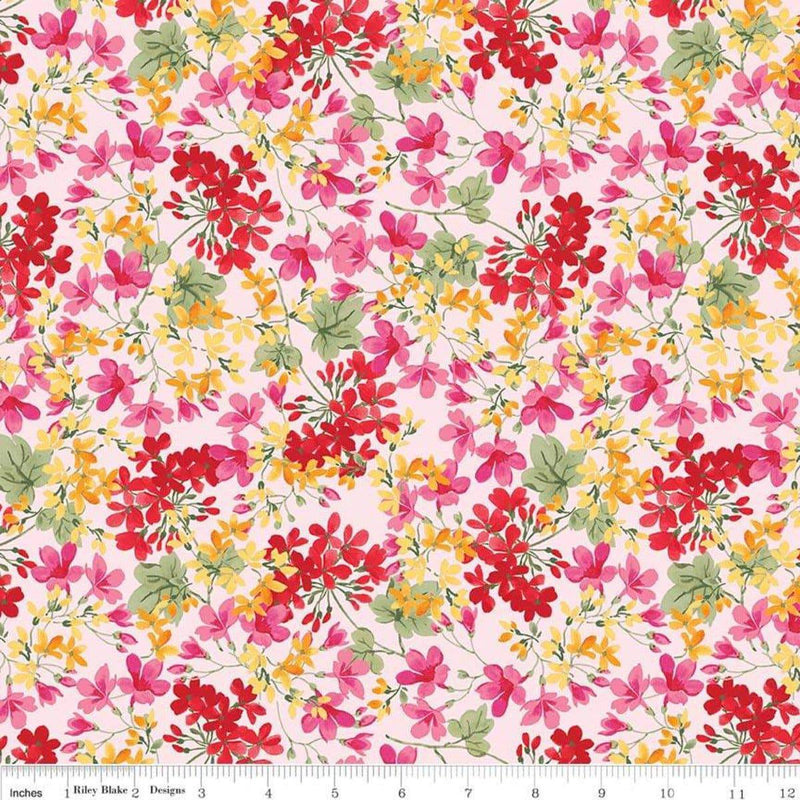 Farmhouse Floral, Small Floral C6881 Pink - Fabrics N Quilts
