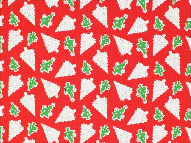 Candy Cane Lane Christmas Trees, Red 51260-5 - Fabrics N Quilts
