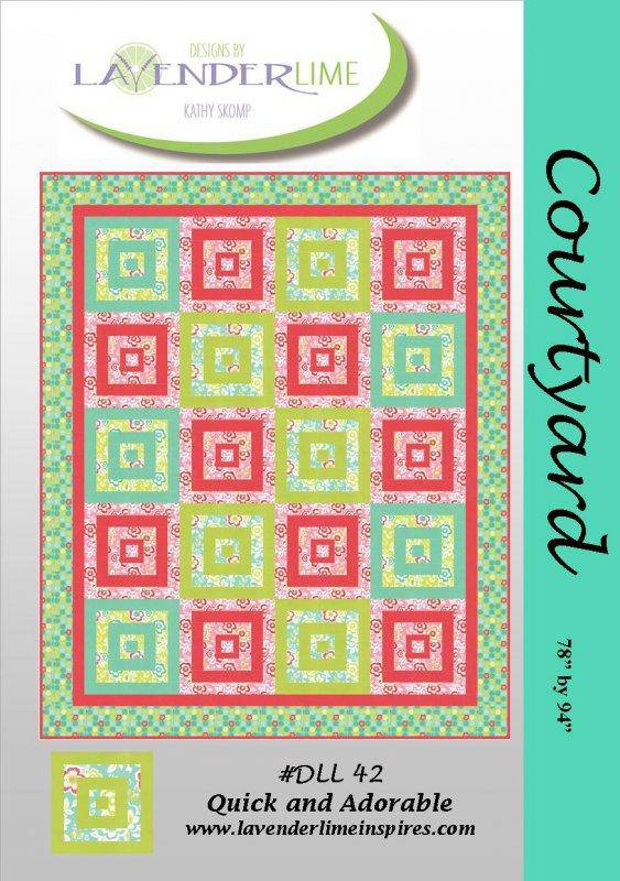 Courtyard Quilt Pattern, Lavender Lime Designs - Fabrics N Quilts