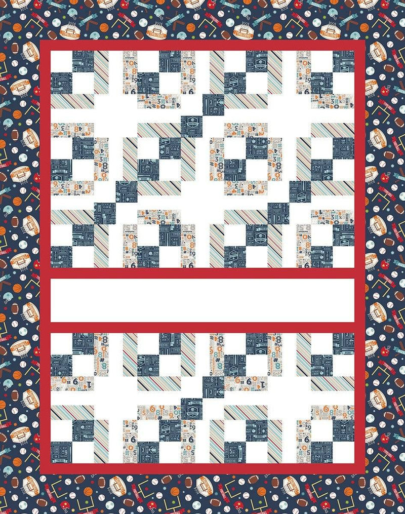 Express Yourself Digital Quilt Kit Panel Game Day - Fabrics N Quilts