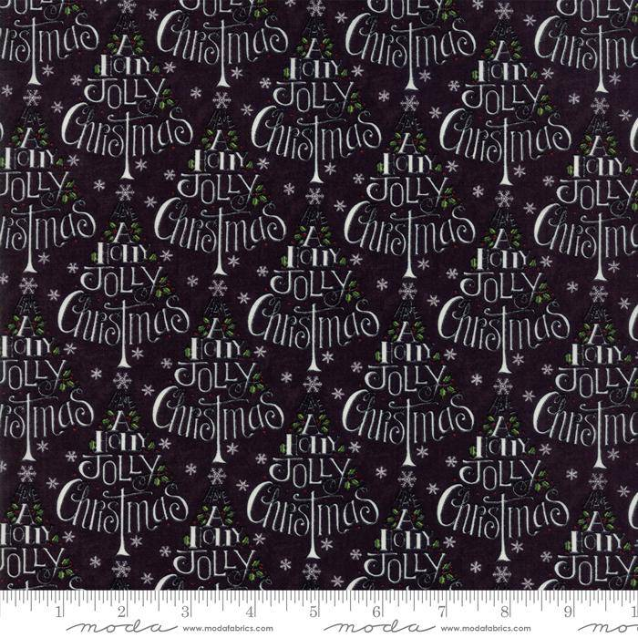 Hearthside Holiday Charcoal Black Christmas Tree 19831 13 - Fabrics N Quilts