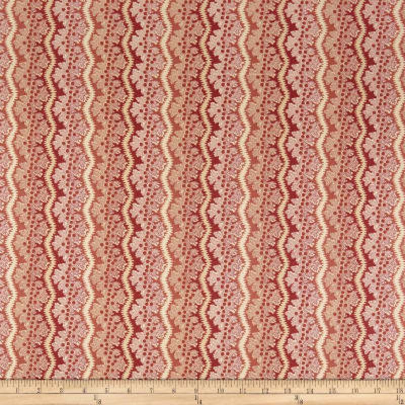 Windermere Reproduction Rose Lace Stripe 8921-E - Fabrics N Quilts