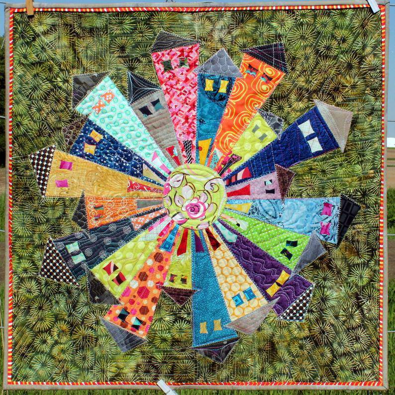 Dresden Neighborhood, Appliqué Pattern, Kim Lapcek - Fabrics N Quilts