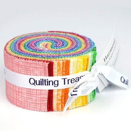 Harmony Bright Strips Jelly Roll - Fabrics N Quilts