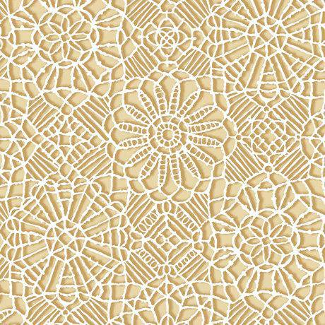Amazing Lace, Tan Ecru 24632-E - Fabrics N Quilts