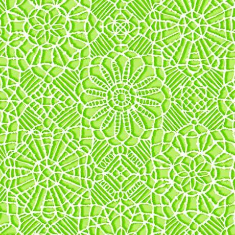 Amazing Lace, Lime Green 24632-H - Fabrics N Quilts